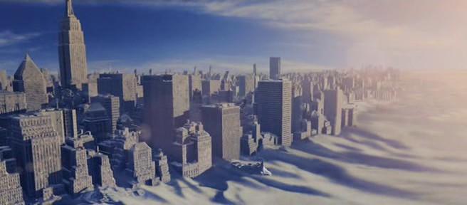 Кадр из фильма «Послезавтра» – Нью-Йорк