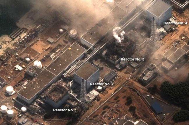 Разрушенные реакторы АЭС Фукусима